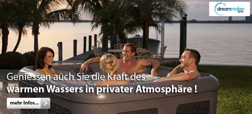 Geniessen auch Sie die Kraft des warmen Wassers in privater Atmosphäre!